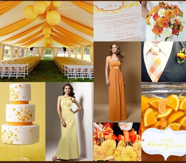 Yellow Orange Wedding Colour Combination 04