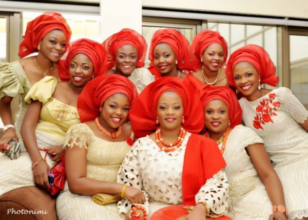 aso-ebi-red-gold-wedding-feferity