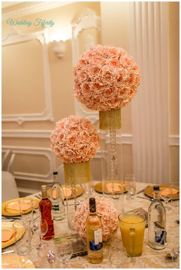 Nigerian wedding by sottu photography abi weds tobi wedding pink wedding reception venue table flower decoration junglespirit Image collections