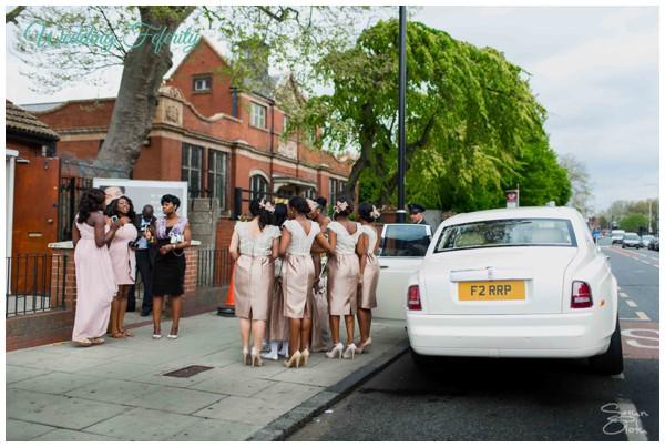 bridesmaid-satin-lace-short-dresses-nigerian-wedding-feferity