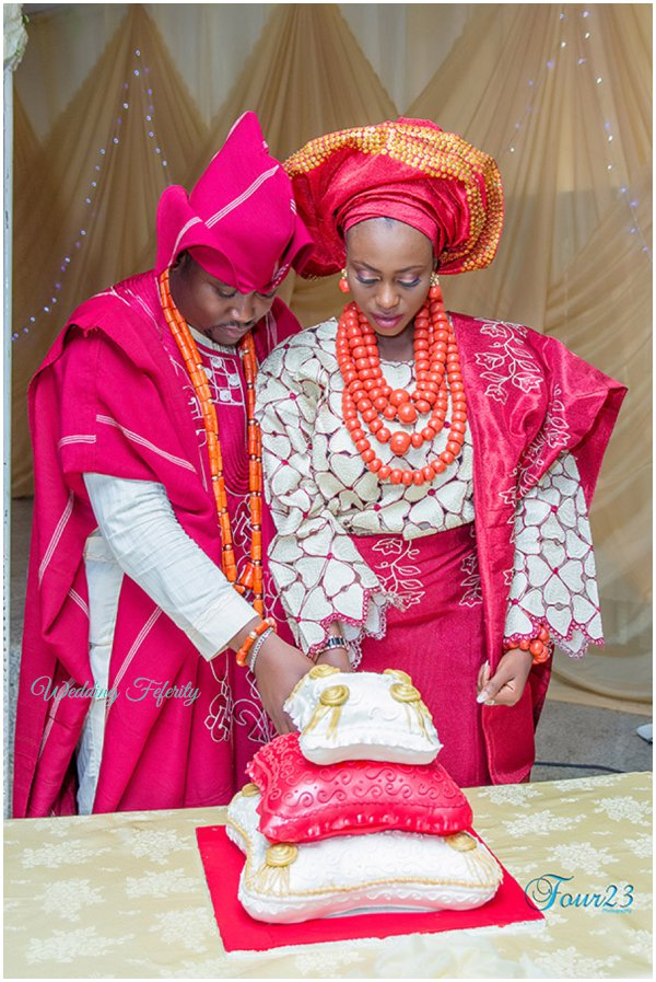 nigerian engagement wedding cake