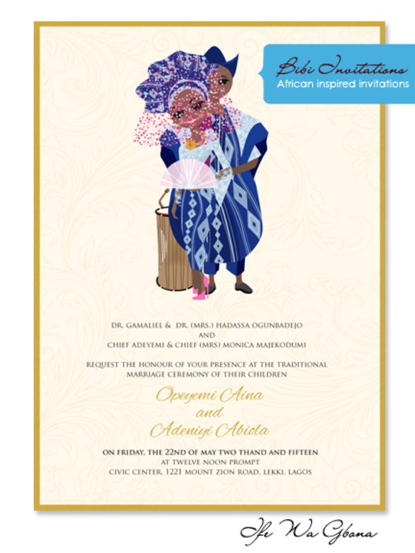 Unique African Wedding Invitations by Bibi Wedding Invitations