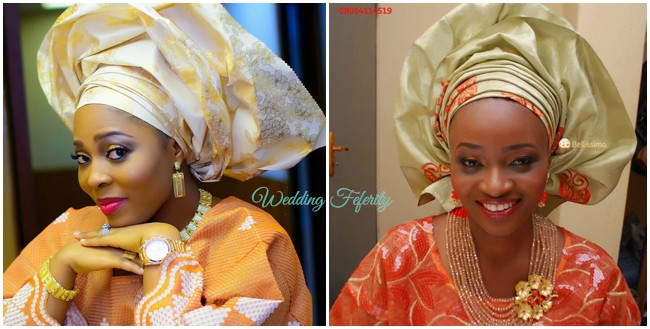 orange--gold-nigerian-traditional-attire-lace-aso-oke-yoruba-wedding-feferity