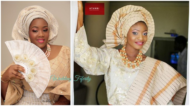 traditional-wedding-attire-cream-brown-aso-oke-lace-yoruba