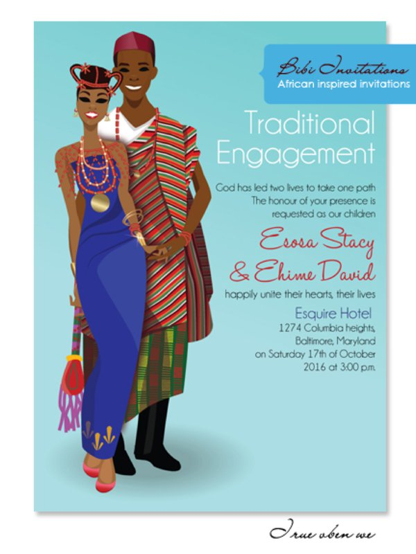 Unique african wedding invitations by bibi wedding invitations traditional wedding invitations traditional engagement wedding invitations stopboris Image collections