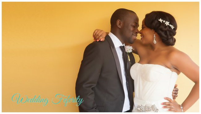 Nabila and Akin's White Wedding in Lagos by Alakija Studios