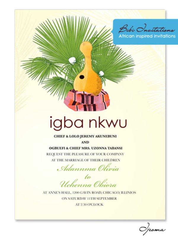 wedding invitations igbo weddings