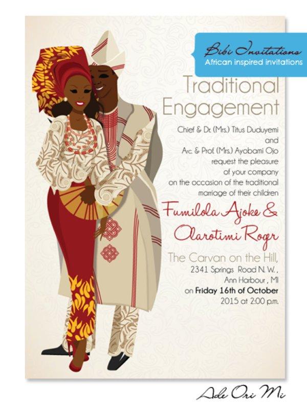 Wedding Invitations Nigeria For Nigerian