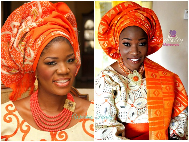 yoruba-traditional-wedding-orange-lace-aso-oke