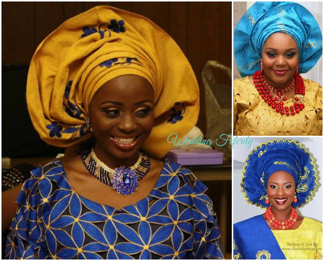 yoruba-wedding-attire-blue-aso-oke-lace-wedding-feferity