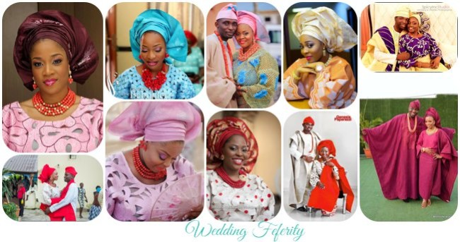 Aso Oke and Lace Attires for Yoruba Traditional Weddings – 42 Colourful Looks!