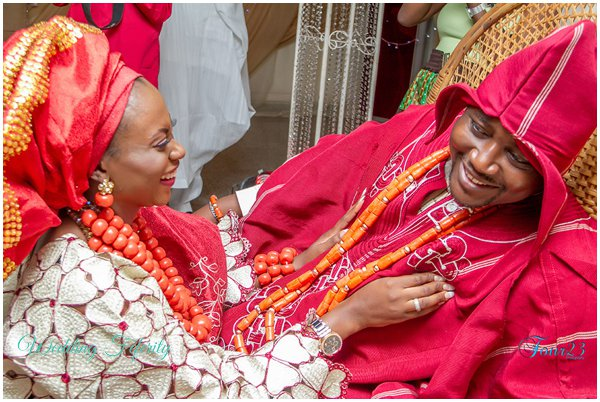 red nigerian traditional attire