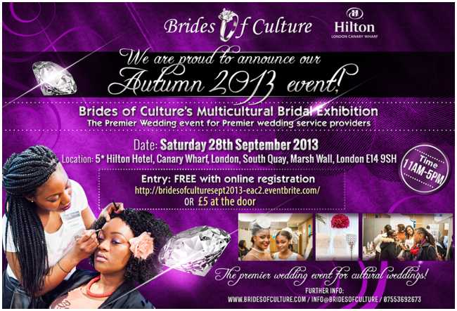 The Brides of Culture Bridal Exhibition | September 2013 in London