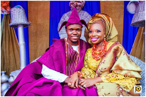 Unique Yoruba Wedding Red And Blue Traditional