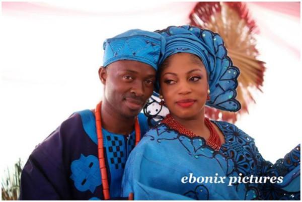 Blue And Navy 2013 Yoruba Wedding Attire
