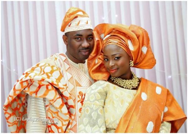 yoruba orange and cream colour combination