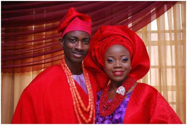 red and purple colour combination yoruba wedding