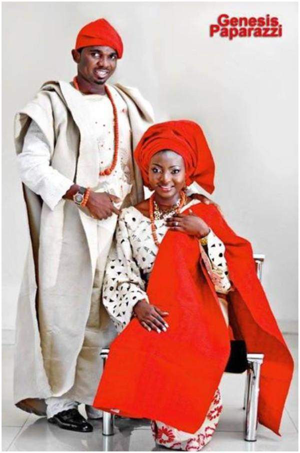 red and grey yoruba wedding colour combination