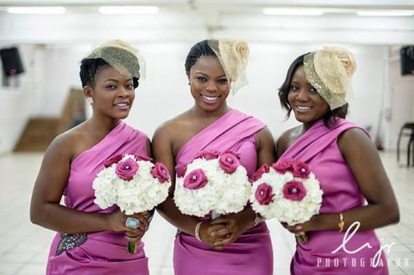 pink bridesmaids dresses nigeria