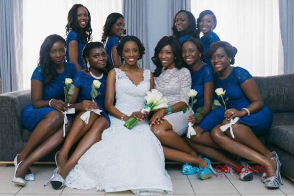 blue bridesmaids dress nigeria