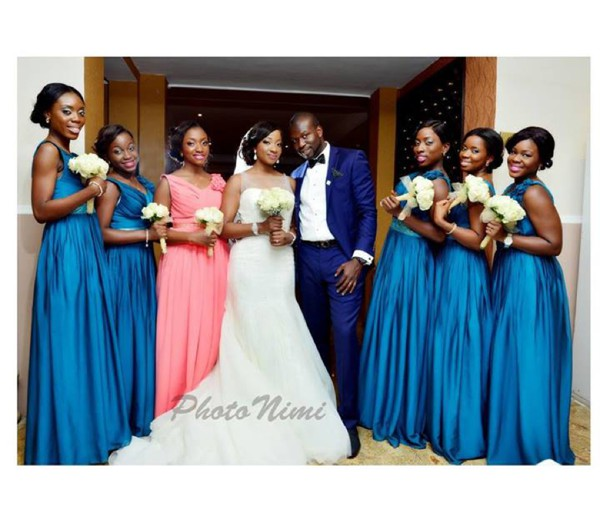 Nigerian Bridesmaids In Blue Dresses