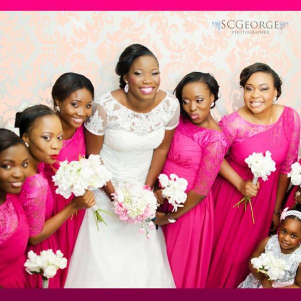 pink nigerian bridesmaid dresses