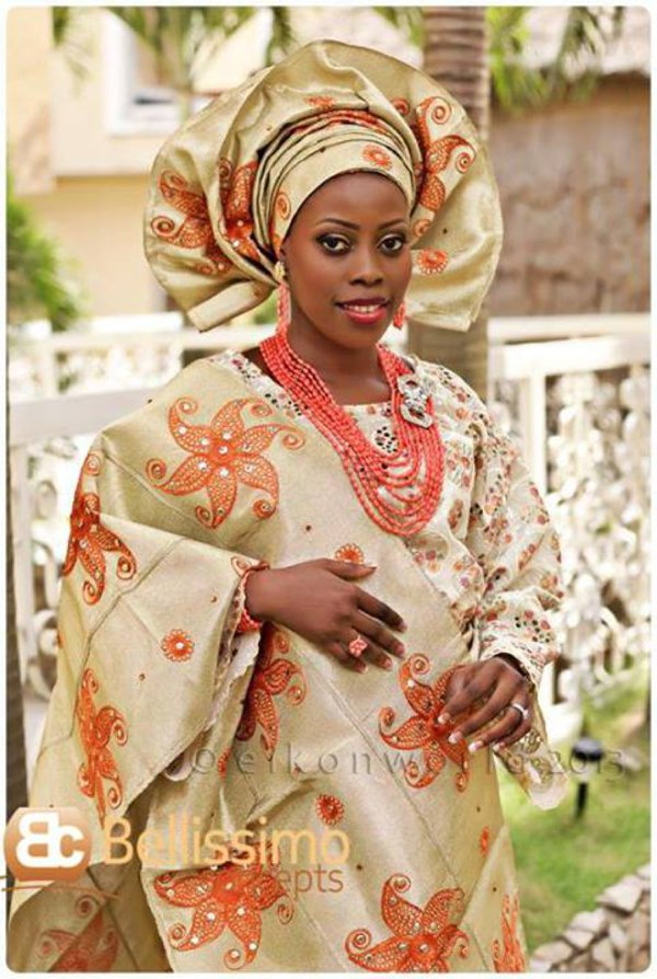 Yoruba brides what 39 s trending scalloped geles for Traditional wedding dress styles