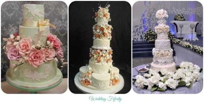 Delicious Wedding Cake Ideas for your White Wedding