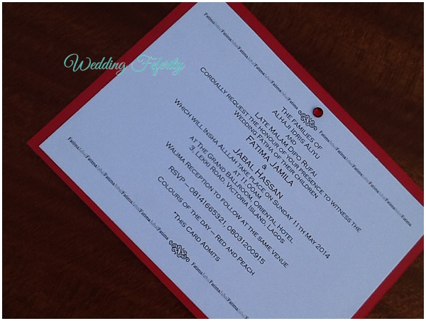 His and Hers Wedding Invitation – Wedding Invitation Cards in Nigeria
