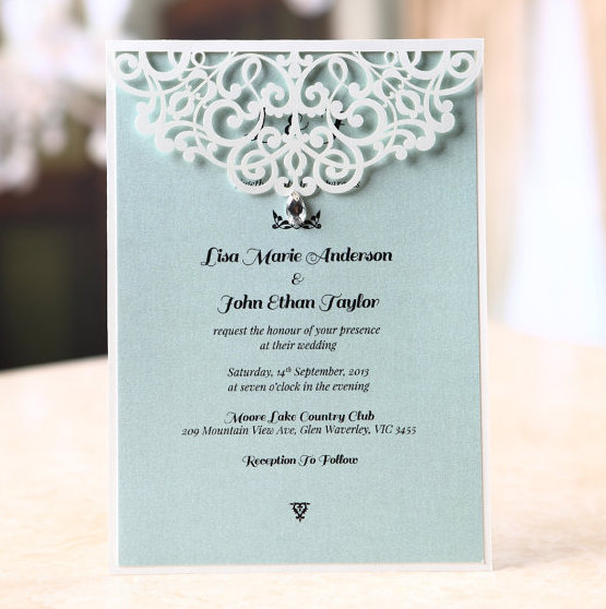 Bejeweled Wedding Invitation