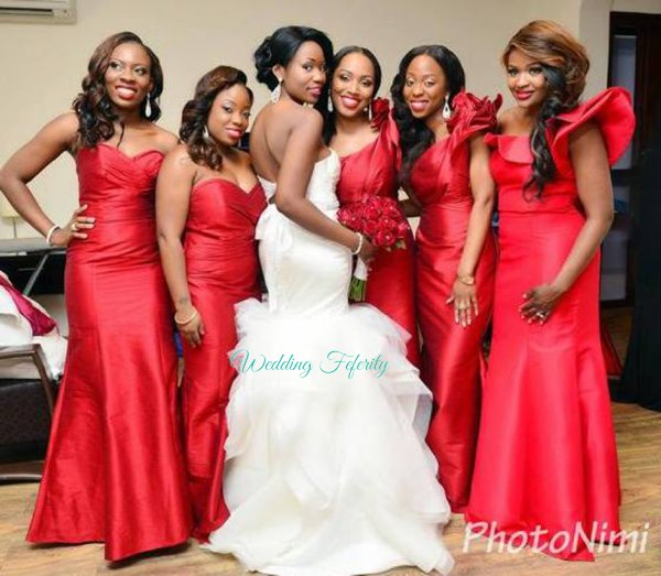 Very Diva Esque Red Bridesmaids Dresses Wedding Feferity 27