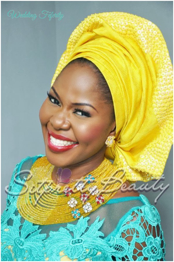 yoruba-bride-yellow-blue-lace-aso-oke-wedding-feferity