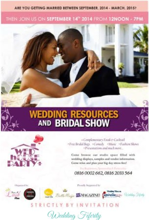 "Attend ""The Wedding House Party"" – A Bridal Show in Lagos this September!"