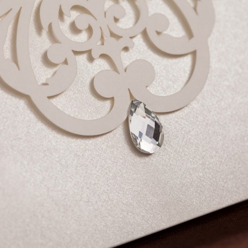 Jeweled Love Wedding Invitation