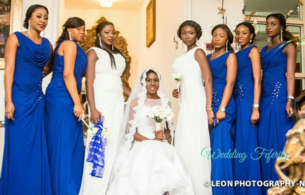 Blue Bridesmaid Dresses Nigeria