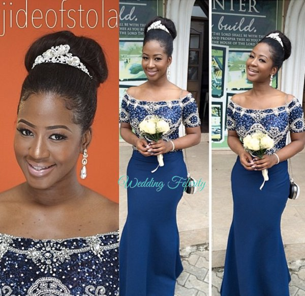 Blue Bridesmaids Dresses for Nigerian Weddings
