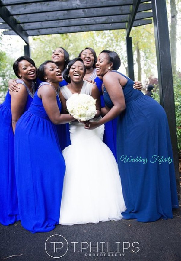 nigerian-bridesmaids-dress-blue
