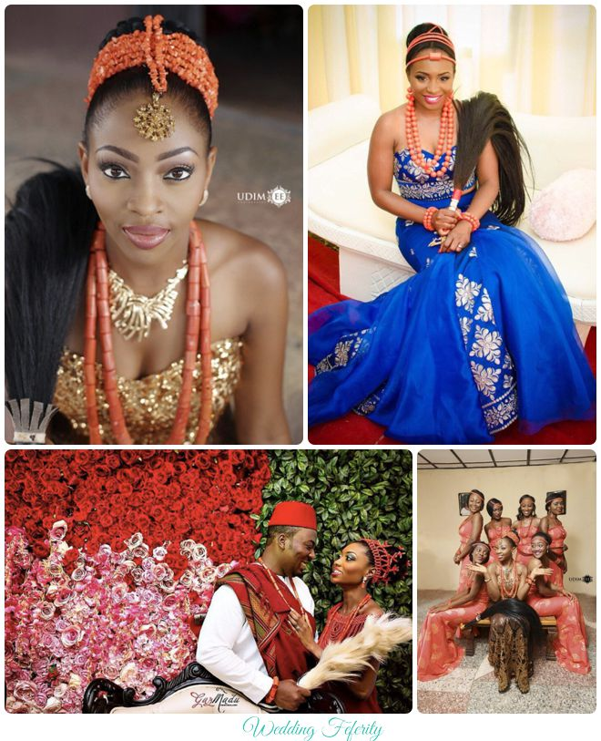 igbo traditional wedding brides grooms and bridesmaids