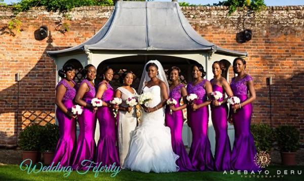 mangenta bridesmaids dresses nigeria