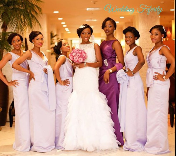 lilac bridal train dresses