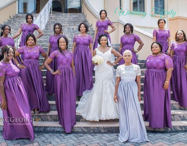Purple Bridesmaids Dresses For Nigerian Weddings