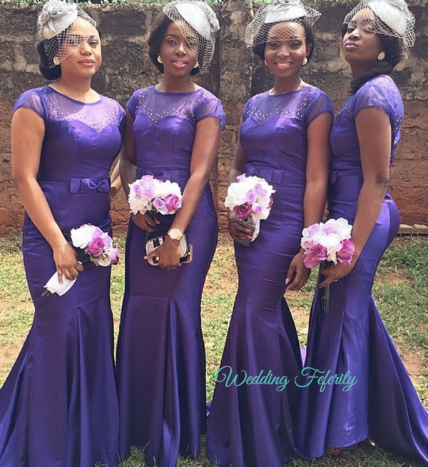 nigerian bridesmaid in purple