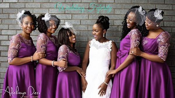 magenta bridesmaids dresses for nigerian wedding