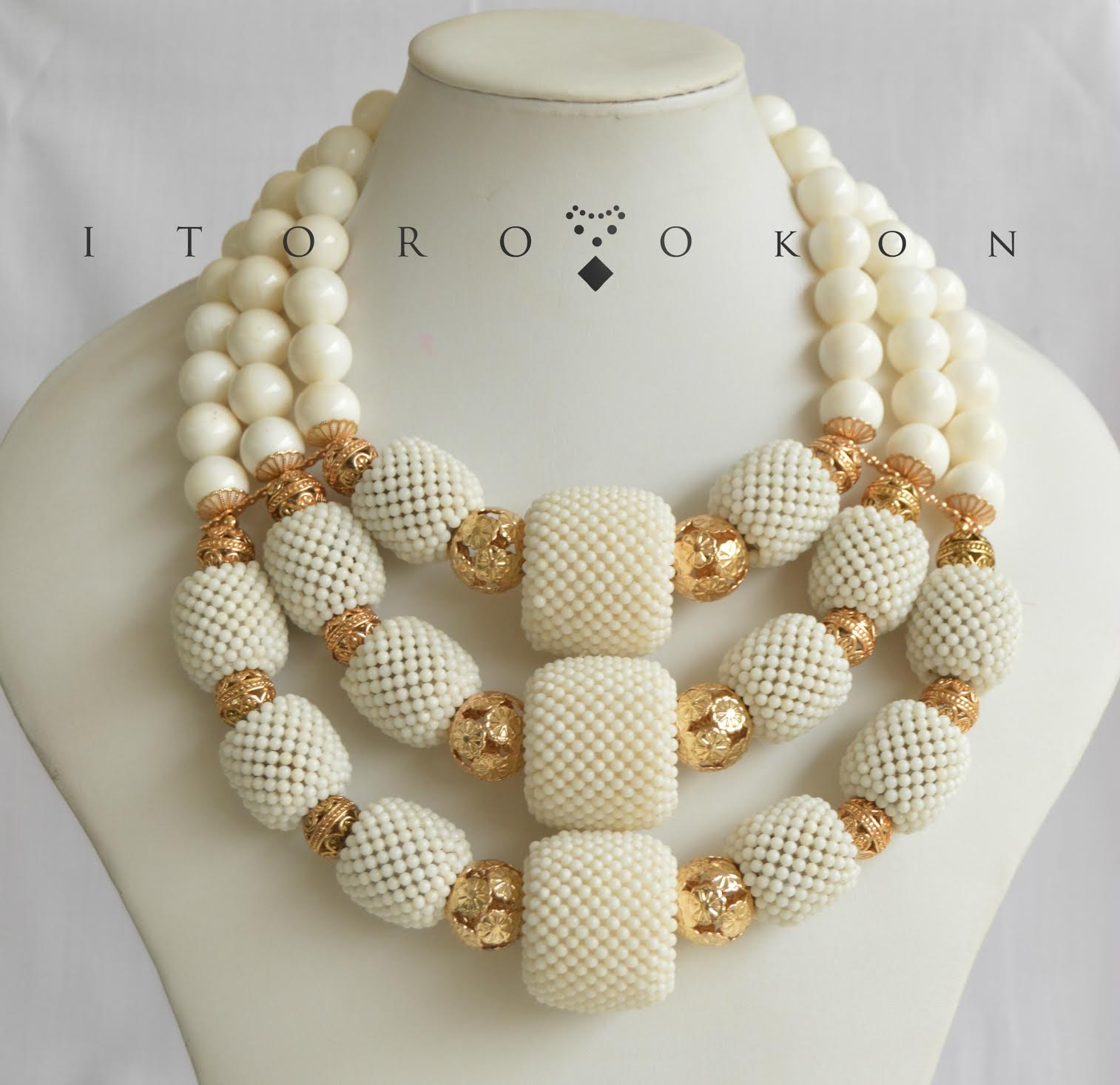 white-beads-nigerian-wedding