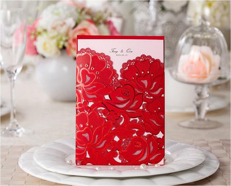 Red Wedding Invitation Nigeria