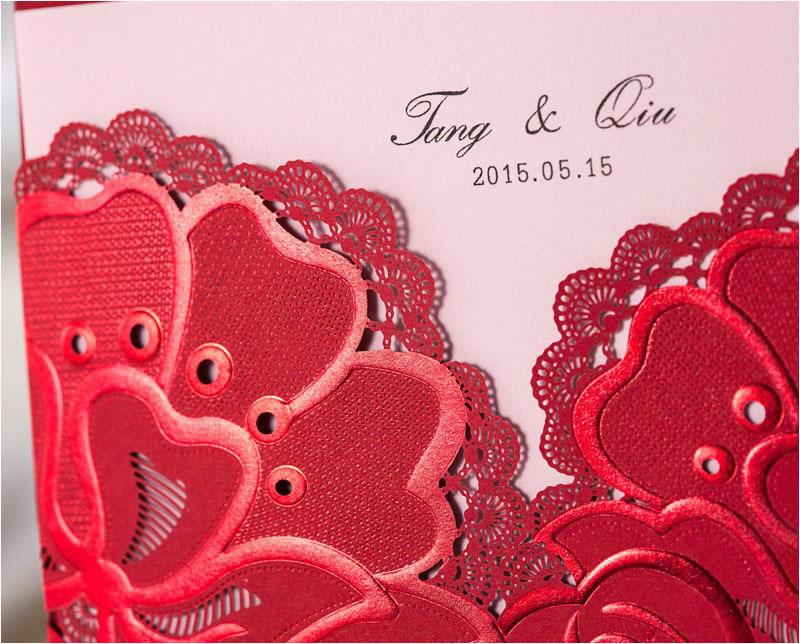 Regal Red Wedding Invitation