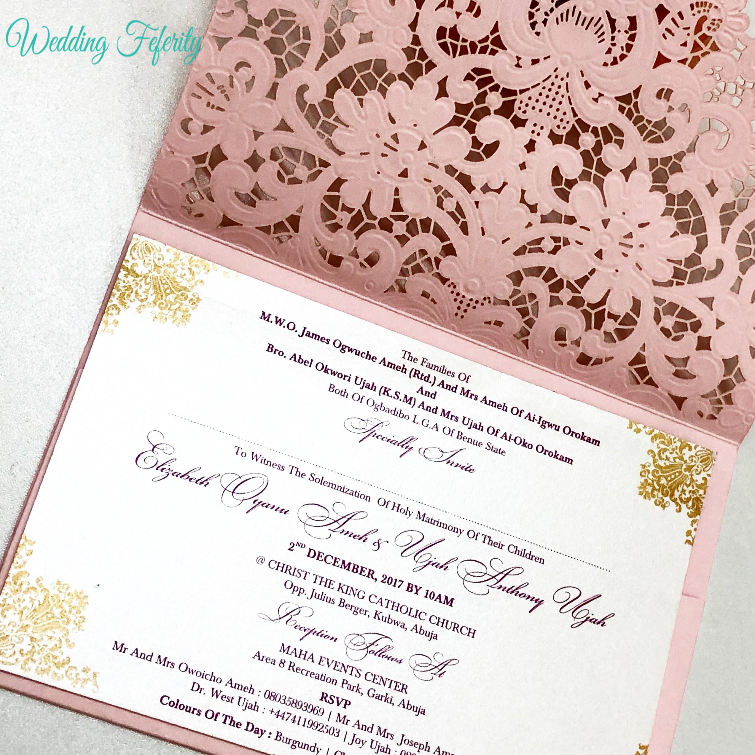 Pink Opulent Wedding Invitation