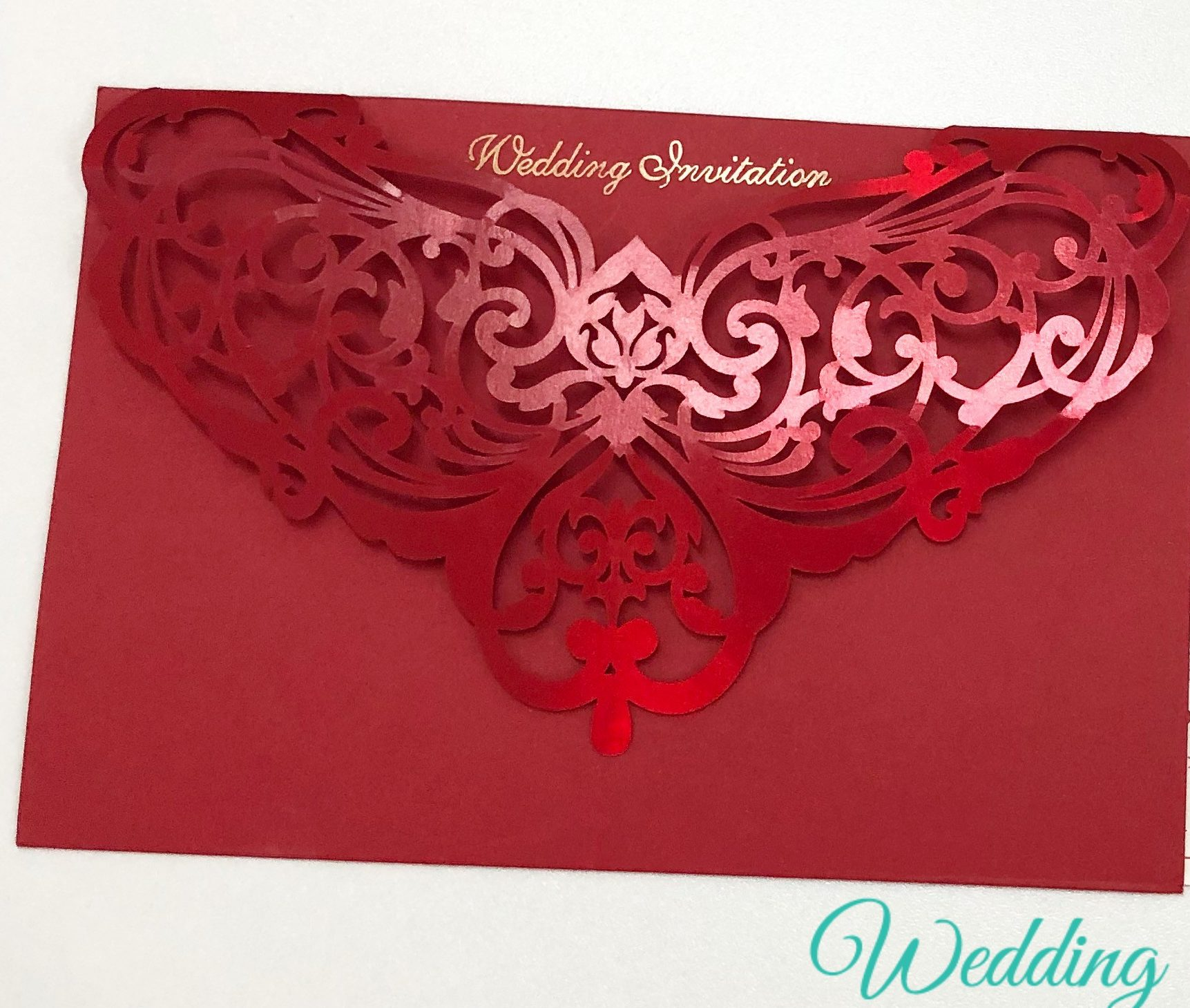 Red Wedding Invite